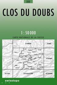 222 CLOS DU DOUBS mapa topograficzna 1:50 000 SWISSTOPO