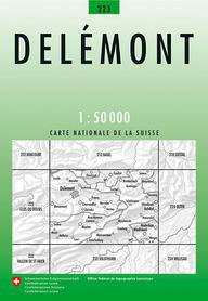 223 DELEMONT mapa topograficzna 1:50 000 SWISSTOPO