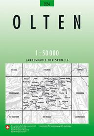 224 OLTEN mapa topograficzna 1:50 000 SWISSTOPO