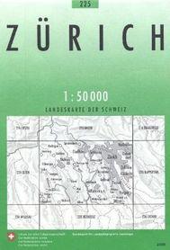 225 ZURICH mapa topograficzna 1:50 000 SWISSTOPO