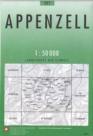 227 APPENZELL mapa topograficzna 1:50 000 SWISSTOPO