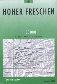 228 HOHER FRESCHEN mapa topograficzna 1:50 000 SWISSTOPO