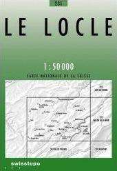 231 LE LOCLE mapa topograficzna 1:50 000 SWISSTOPO