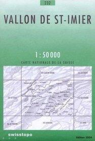232 VALLON DE ST. IMIER mapa topograficzna 1:50 000 SWISSTOPO