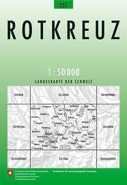 235 ROTKREUZ mapa topograficzna 1:50 000 SWISSTOPO