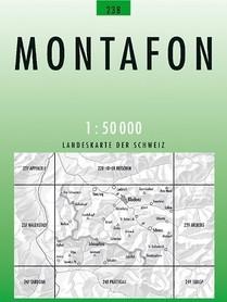 238 MONTAFON mapa topograficzna 1:50 000 SWISSTOPO