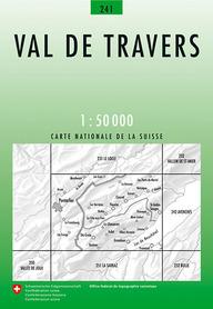 241 VAL DE TRAVERS mapa topograficzna 1:50 000 SWISSTOPO