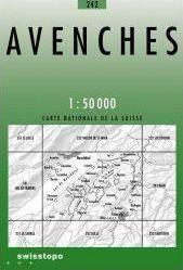242 AVENCHES mapa topograficzna 1:50 000 SWISSTOPO