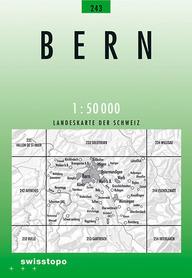 243 BERN mapa topograficzna 1:50 000 SWISSTOPO