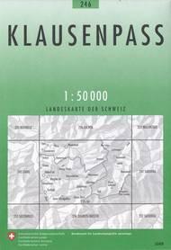 246 KLAUSENPASS mapa topograficzna 1:50 000 SWISSTOPO