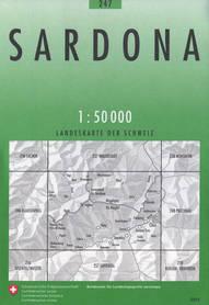 247 SARDONA mapa topograficzna 1:50 000 SWISSTOPO
