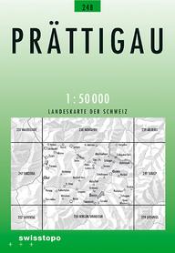 248 PRATTIGAU mapa topograficzna 1:50 000 SWISSTOPO