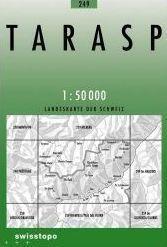 249 TARASP mapa topograficzna 1:50 000 SWISSTOPO