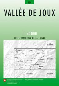 250 VALLEE DE JOUX mapa topograficzna 1:50 000 SWISSTOPO