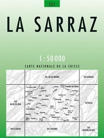 251 LA SARRAZ mapa topograficzna 1:50 000 SWISSTOPO