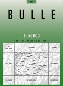252 BULLE mapa topograficzna 1:50 000 SWISSTOPO