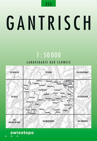 253 GANTRISCH mapa topograficzna 1:50 000 SWISSTOPO