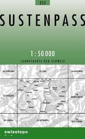 255 SUSTENPASS mapa topograficzna 1:50 000 SWISSTOPO
