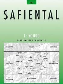 257 SAFIENTAL mapa topograficzna 1:50 000 SWISSTOPO