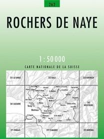 262 RCHERS DE NAYE mapa topograficzna 1:50 000 SWISSTOPO