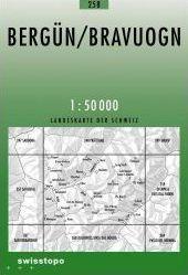 258 BERGUN mapa topograficzna 1:50 000 SWISSTOPO