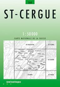260 ST. CERGUE mapa topograficzna 1:50 000 SWISSTOPO