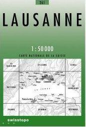 261 LAUSANNE mapa topograficzna 1:50 000 SWISSTOPO