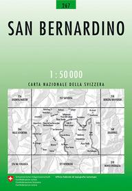 267 SAN BERNARDINO mapa topograficzna 1:50 000 SWISSTOPO