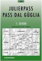 268 JULIERPASS mapa topograficzna 1:50 000 SWISSTOPO