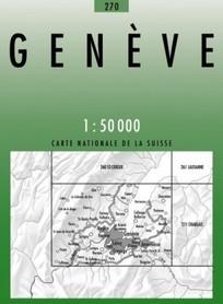 270 GENEVE mapa topograficzna 1:50 000 SWISSTOPO