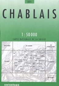 271 CHABLAIS mapa topograficzna 1:50 000 SWISSTOPO