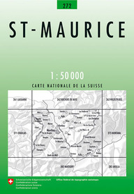 272 ST. MAURICE mapa topograficzna 1:50 000 SWISSTOPO