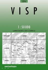 274 VISP mapa topograficzna 1:50 000 SWISSTOPO