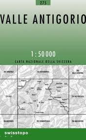 275 VALLE ANTIGORIO mapa topograficzna 1:50 000 SWISSTOPO