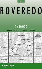 277 ROVEREDO mapa topograficzna 1:50 000 SWISSTOPO