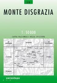 278 MONTE DISGRAZIA mapa topograficzna 1:50 000 SWISSTOPO