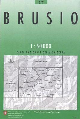 279 BRUSIO mapa topograficzna 1:50 000 SWISSTOPO