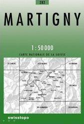 282 MARTIGNY mapa topograficzna 1:50 000 SWISSTOPO