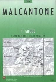 286 MALCANTONE mapa topograficzna 1:50 000 SWISSTOPO