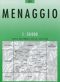 287 MENAGGIO mapa topograficzna 1:50 000 SWISSTOPO
