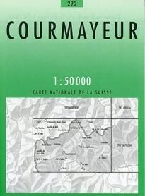 292 COURMAYEUR mapa topograficzna 1:50 000 SWISSTOPO