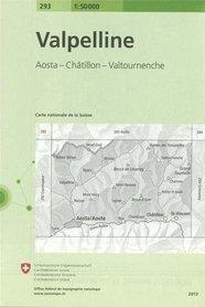 293 VALPELLINE mapa topograficzna 1:50 000 SWISSTOPO