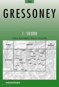 294 GRESSONEY mapa topograficzna 1:50 000 SWISSTOPO