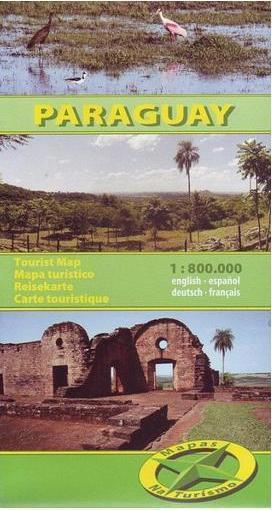 PARAGWAJ  mapa turystyczna 1:800 000 NATURISMO