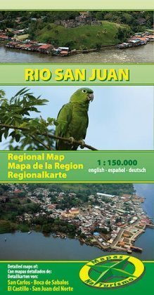 RIO SAN JUAN / NIKARAGUA mapa turystyczna 1:150 000 NATURISMO