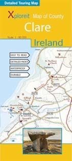 CLARE - IRLANDIA mapa turystyczna wodoodoporna XPLOREIT MAPS