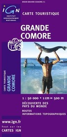 WIELKI KOMOR KOMORY GRANDE COMORE mapa samochodowa 1:50 000 IGN