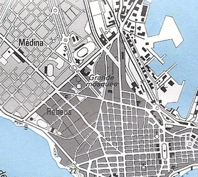 DAKAR mapa topograficzna 1:50 000 IGN