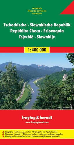 CZECHY SŁOWACJA mapa samochodowa 1:400 000 FREYTAG & BERNDT