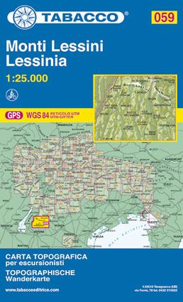 059 MONTI LESSINI - LESSINIA mapa turystyczna 1:25 000 TABACCO